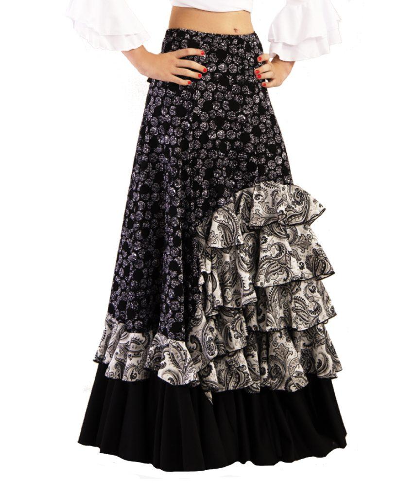 c4cb78bbd Falda de mujer para flamenco o sevillanas, 5 volantes en cascada