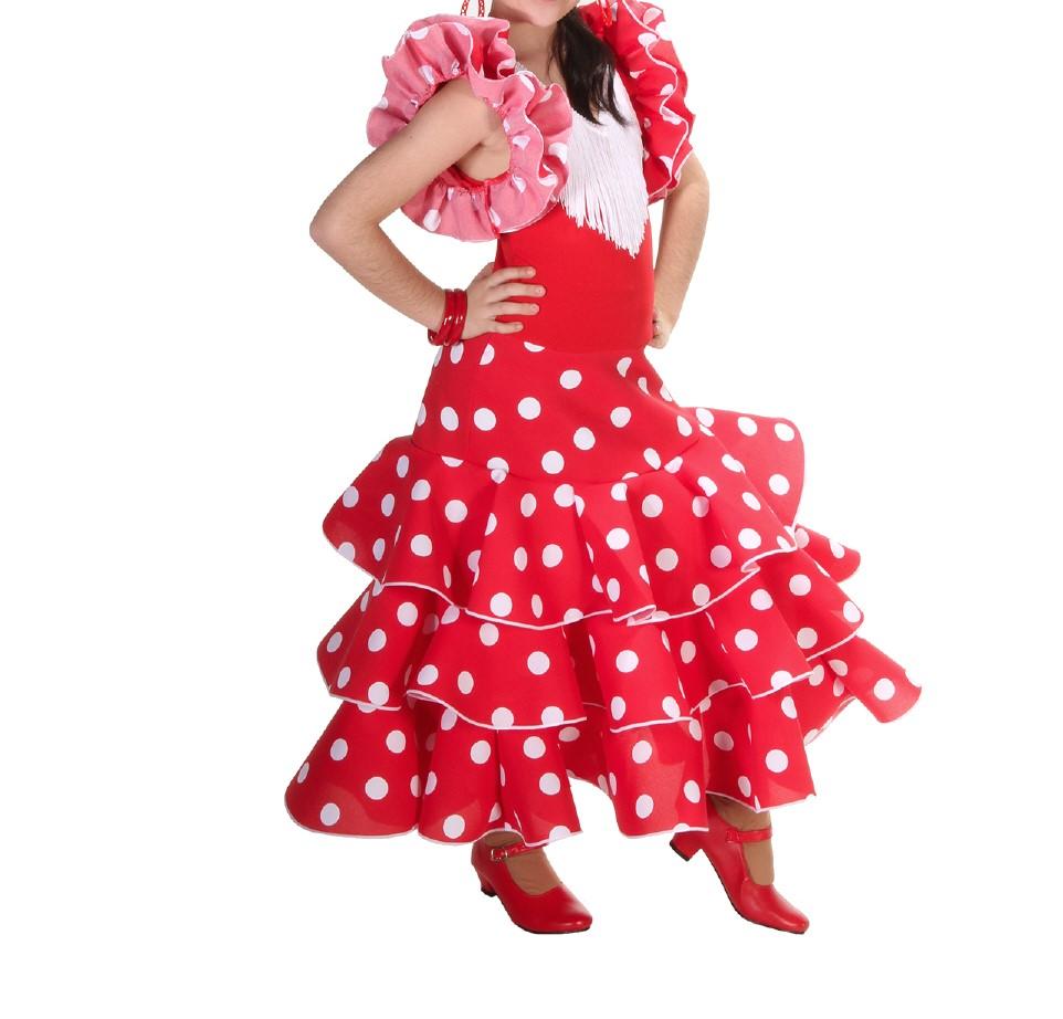 4b02fdaca594 Vestido de niña para danza flamenco o sevillanas | Centro Anuka ...